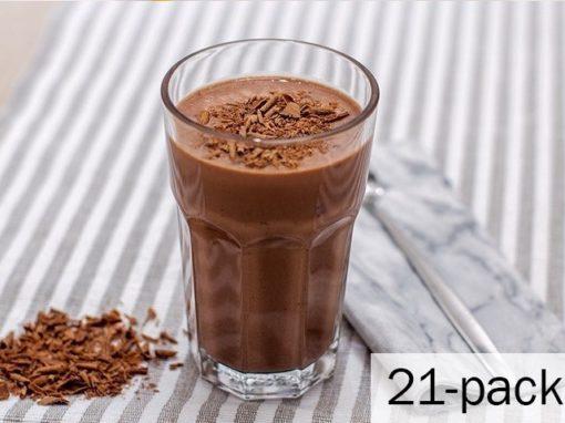 Chokladshake 1 ask med 21 påsar